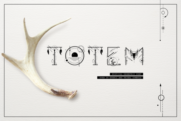 Print on Demand: Totem Display Font By Cosmic Store