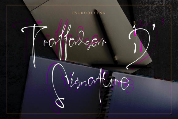 Print on Demand: Trafalgar D' Signature Script & Handwritten Font By IntrovArtZone