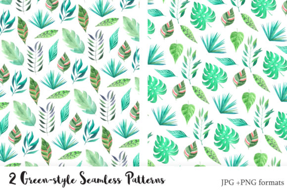 Tropical Watercolor Greenery Set Graphic Illustrations By Larysa Zabrotskaya - Image 4