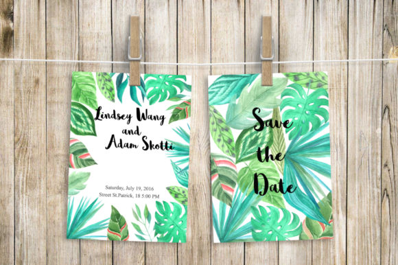 Tropical Watercolor Greenery Set Graphic Illustrations By Larysa Zabrotskaya - Image 5