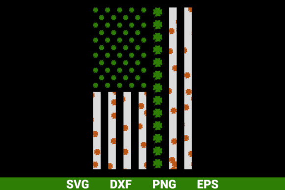 Usa Flag With Irish Leaf Vector Graphic By Graphicza Creative
