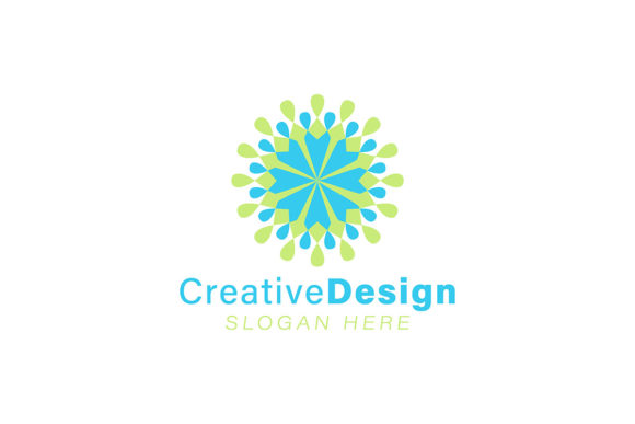 Unity And Teamwork Abstract Flower Logo Graphic By