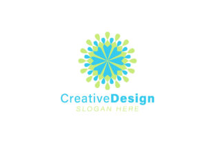 Download Free Unity And Teamwork Abstract Flower Logo Graphic By for Cricut Explore, Silhouette and other cutting machines.