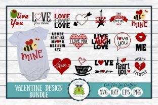 Download Free Valentine Design Bundle Love Graphic By for Cricut Explore, Silhouette and other cutting machines.