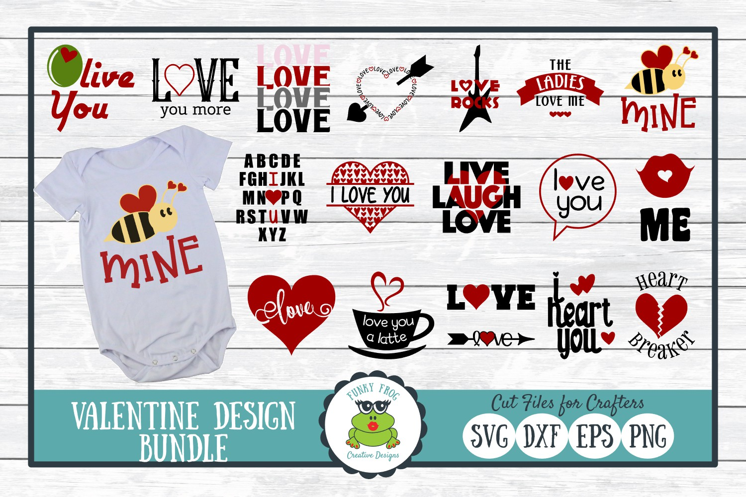 Download Free Valentine Design Bundle Love Graphic By Funkyfrogcreativedesigns Creative Fabrica for Cricut Explore, Silhouette and other cutting machines.