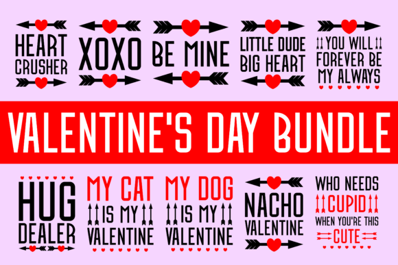 Print on Demand: Valentine's Day Bundle Graphic Product Mockups By colorsplash