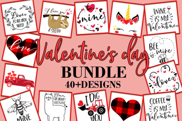 Print on Demand: Valentine's Day Quotes Graphic Crafts By freelingdesignhouse - Image 1