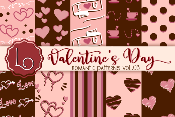 Print on Demand: Valentine's Day Romantic Patterns Vol 03 Graphic Patterns By La Oliveira