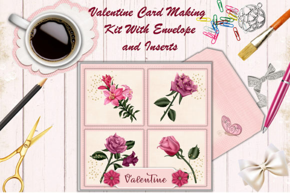 Valtine Card Making Kit  Graphic Crafts By DigitalCraftsco