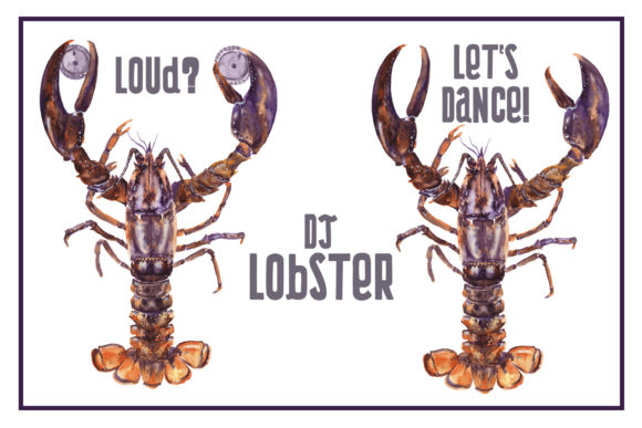 Watercolor Lobster Clipart Graphic Illustrations By Cat In Colour