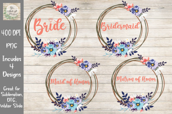 Print on Demand: Wedding Bundle, Floral Wreaths Graphic Print Templates By You Make It Personal