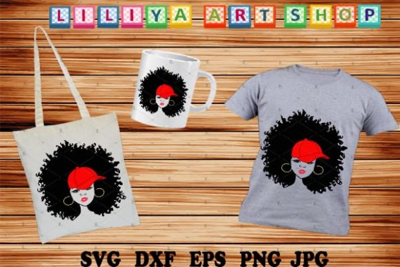 Woman With Hat Svg Afro Woman Svg Graphic By Liliyaartshop