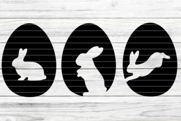 Easter Eggs with Bunnys Graphic Crafts By seehas-design