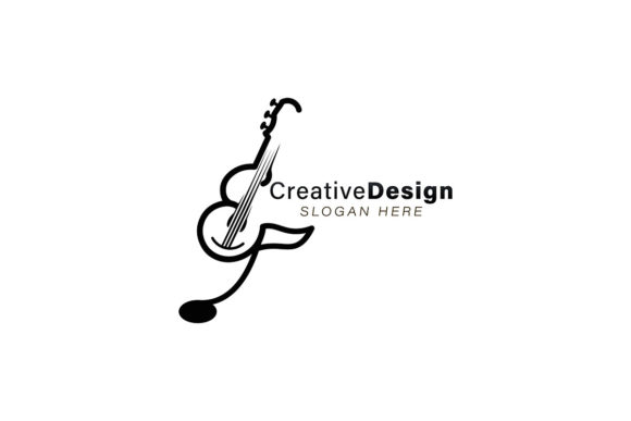 Download Free Initial E Music Note Guitar Logo Ideas Graphic By for Cricut Explore, Silhouette and other cutting machines.