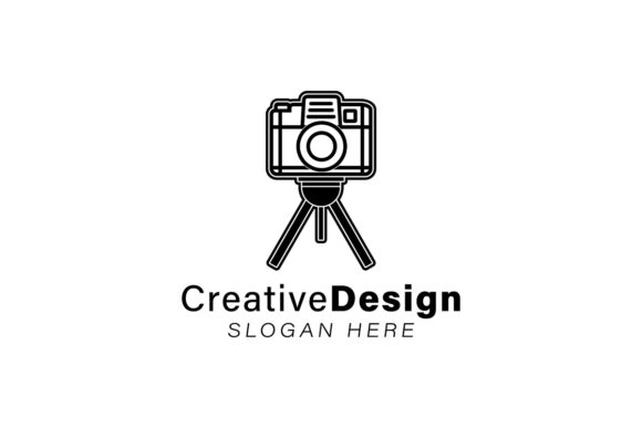 Lens Camera With Tripod Logo Ideas Insp Graphic By