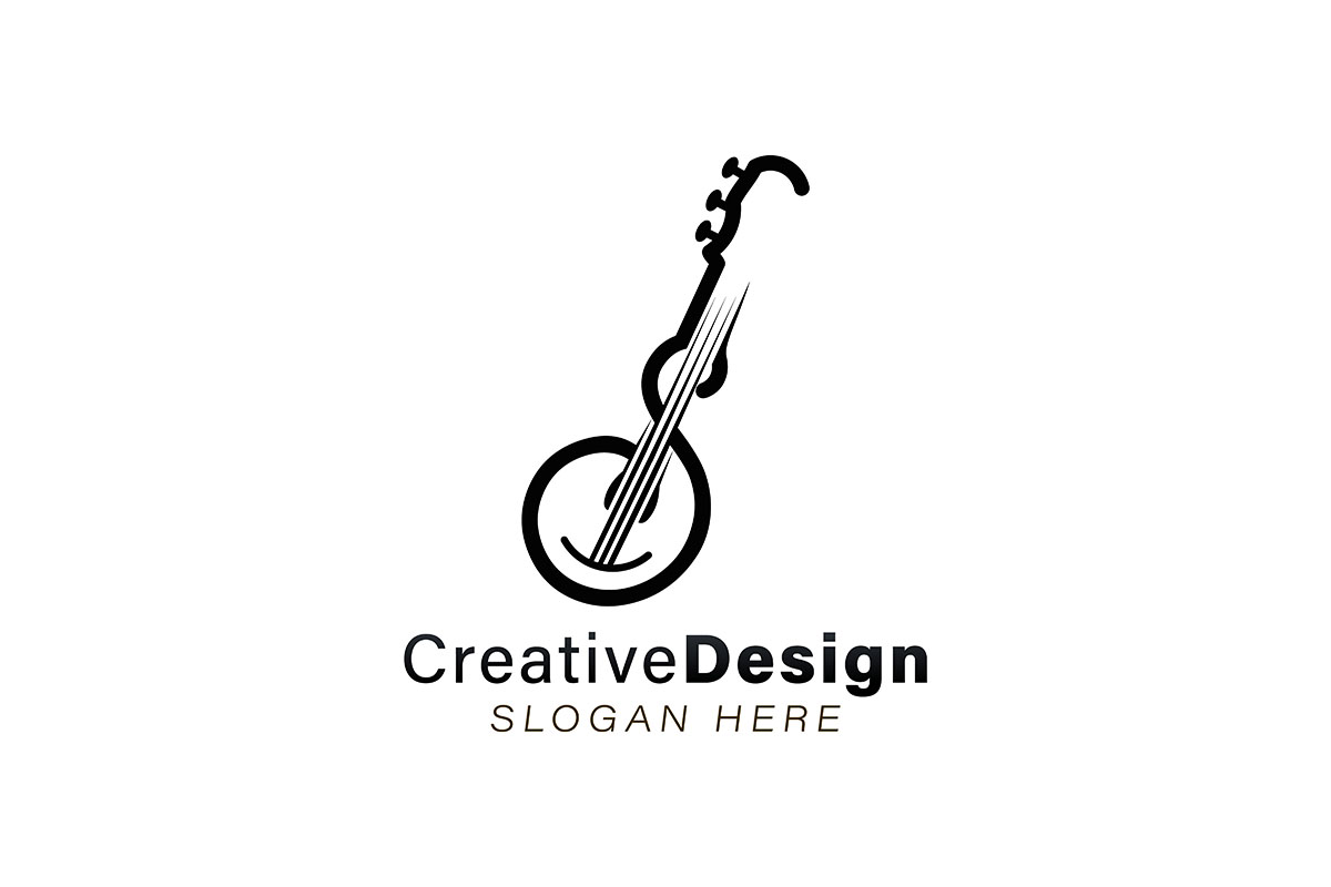 Download Free Letter S Guitar Logo Ideas Inspiration Graphic By Yahyaanasatokillah Creative Fabrica for Cricut Explore, Silhouette and other cutting machines.