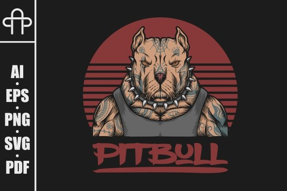 Print on Demand: Pitbull Gangster  Tattoo Illustration Graphic Illustrations By Andypp