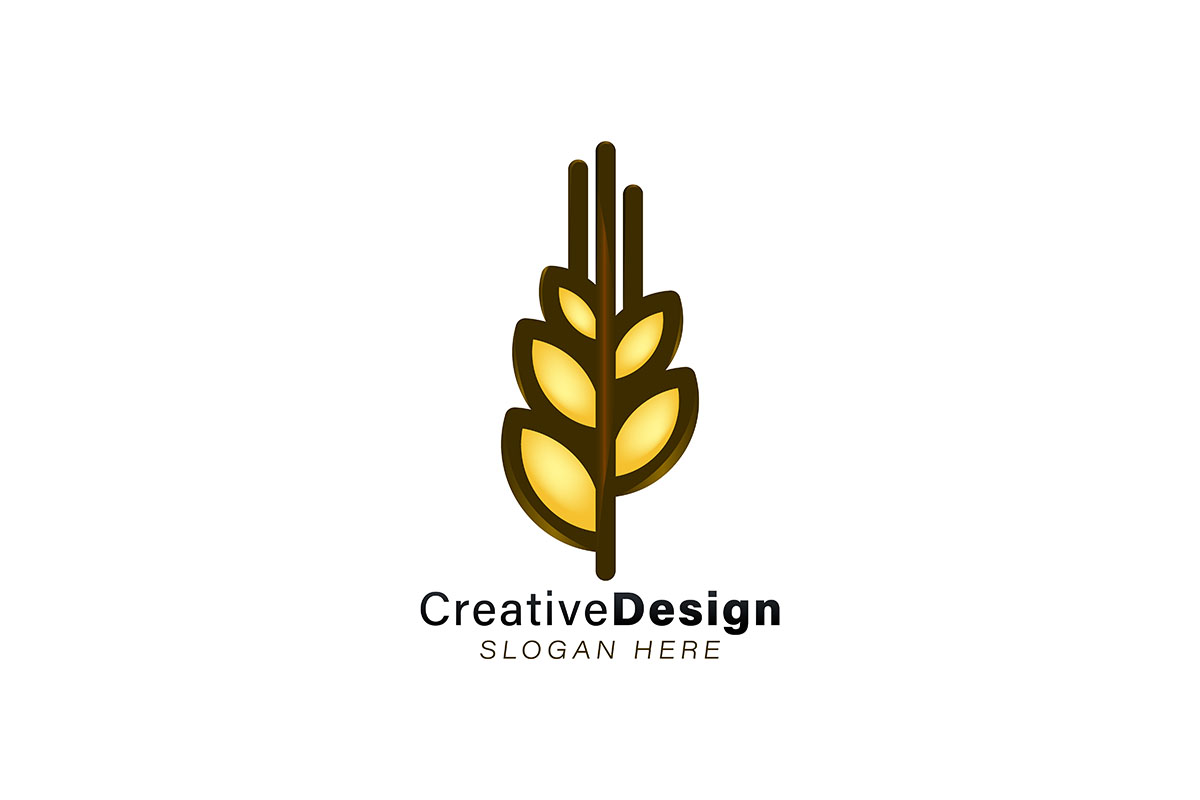 Download Free Wheat Grain Logo Ideas Inspiration Logo Graphic By for Cricut Explore, Silhouette and other cutting machines.