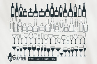 Download Free Wine Glass And Bottle Wine Svg Bundle Graphic By Great19 SVG Cut Files