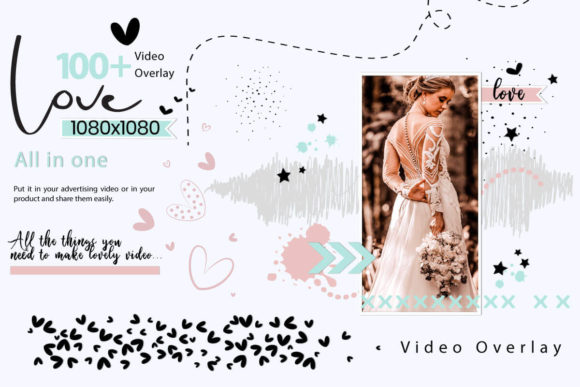 Print on Demand: 108 Animated Doodle Love Video Overlays Graphic Backgrounds By 3Motional - Image 2