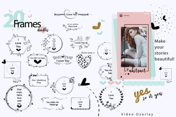 Print on Demand: 108 Animated Doodle Love Video Overlays Graphic Backgrounds By 3Motional - Image 3
