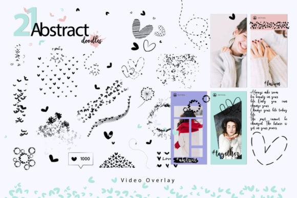 Print on Demand: 108 Animated Doodle Love Video Overlays Graphic Backgrounds By 3Motional - Image 5