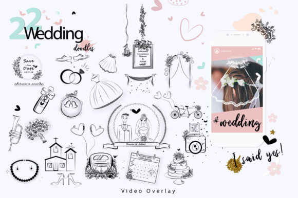 Print on Demand: 108 Animated Doodle Love Video Overlays Graphic Backgrounds By 3Motional - Image 6