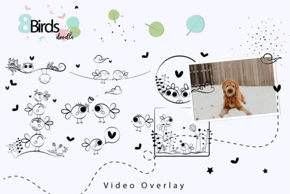 Print on Demand: 108 Animated Doodle Love Video Overlays Graphic Backgrounds By 3Motional - Image 7