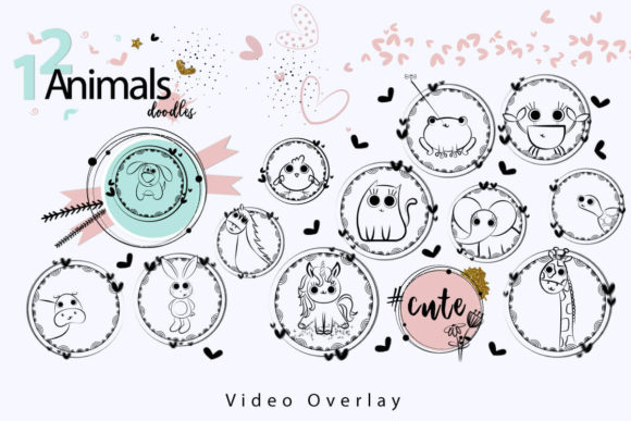 Print on Demand: 108 Animated Doodle Love Video Overlays Graphic Backgrounds By 3Motional - Image 8