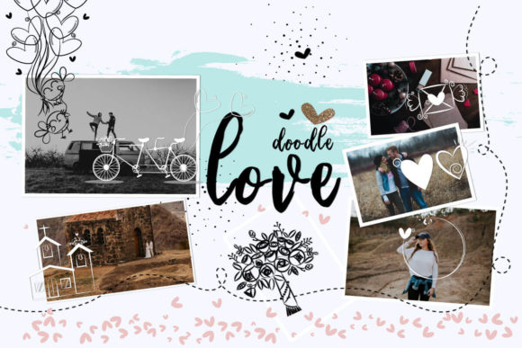 Print on Demand: 108 Animated Doodle Love Video Overlays Graphic Backgrounds By 3Motional - Image 9