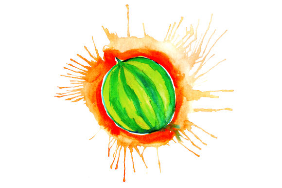 Download Free Watermelon In Watercolor Paint Splatter Style Svg Cut File By for Cricut Explore, Silhouette and other cutting machines.