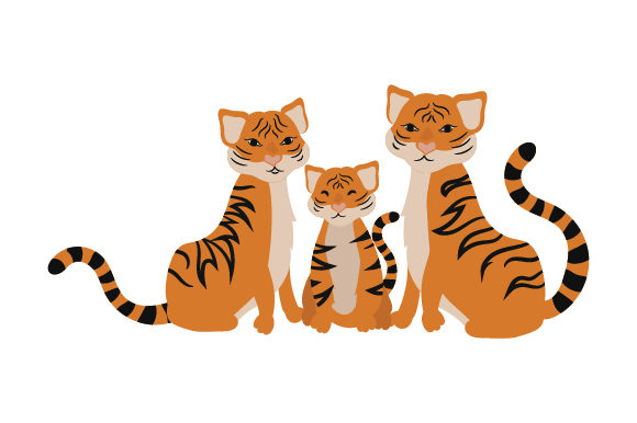 Download Free Tiger Family Svg Cut File By Creative Fabrica Crafts Creative for Cricut Explore, Silhouette and other cutting machines.