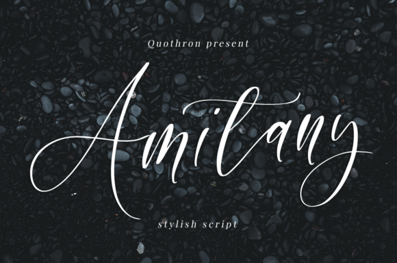Print on Demand: Amitany Script & Handwritten Font By it_was_a_good_day