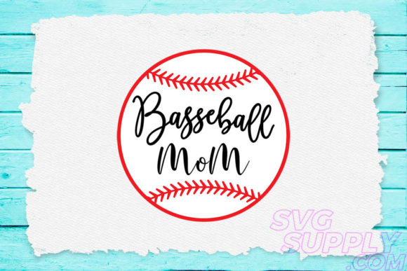 Download Free Baseball Mom Graphic By Svgsupply Creative Fabrica for Cricut Explore, Silhouette and other cutting machines.