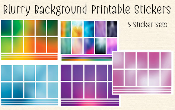Download Free Blurry Background Printable Stickers Graphic By Kathryn Maloney SVG Cut Files