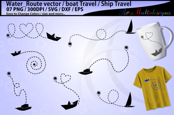 Print on Demand: Boat Travel Template Graphic Illustrations By Arcs Multidesigns