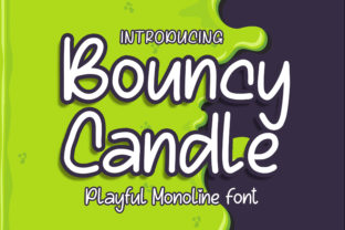 Print on Demand: Bouncy Candle Display Font By Blankids Studio 1