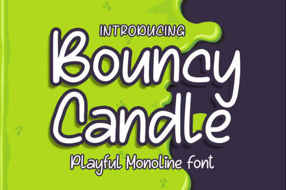 Print on Demand: Bouncy Candle Display Schriftarten von Blankids Studio
