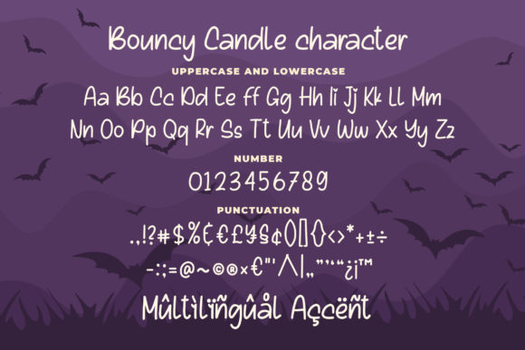 Bouncy Candle Font Preview
