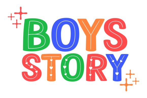 Print on Demand: Boys Story Manuscrita Fuente Por Keithzo (7NTypes)
