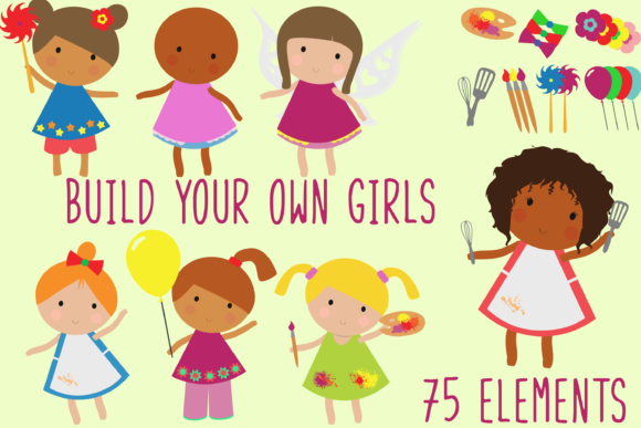 Build Your Own Girls Bundle Graphic Illustrations By Anayah's Room