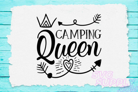 Print on Demand: Camping Queen Graphic Crafts By svgsupply