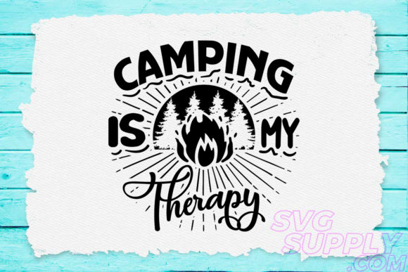 Print on Demand: Camping is My Happy Place Graphic Crafts By svgsupply