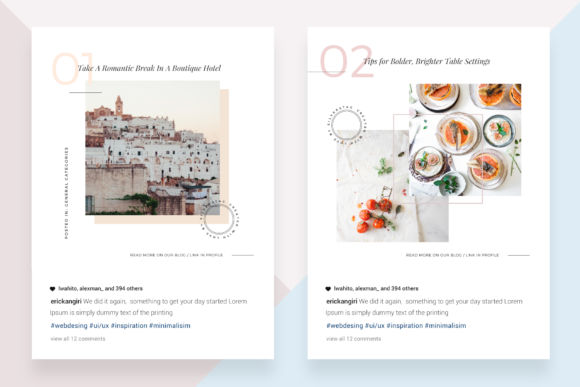 Download Free Canva Food Travel Instagram Posts Graphic By Silverstag Creative Fabrica for Cricut Explore, Silhouette and other cutting machines.