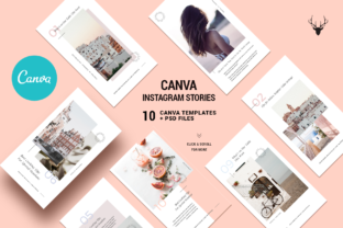 Print on Demand: Canva Modern Instagram Stories Pack Graphic Websites By SilverStag