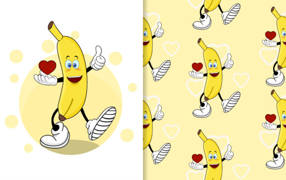 Cute Banana Cartoon Graphic Graphic Templates By ngabeivector