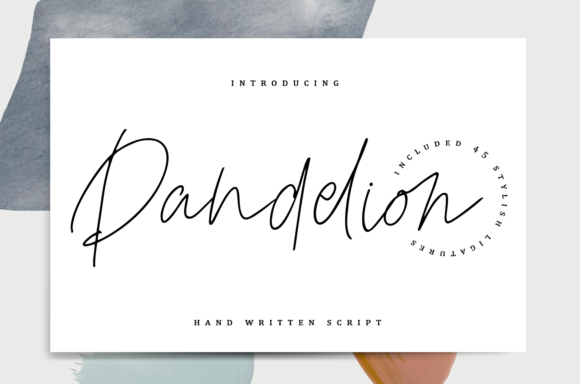 Print on Demand: Dandelion Script & Handwritten Font By enyaaa90