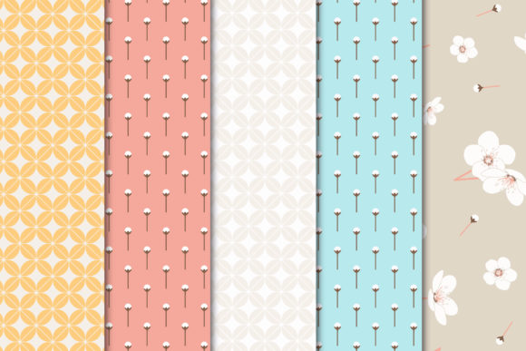 Print on Demand: Digital Paper Pack Blossom Set 01 Graphic Patterns By Maishop - Image 3