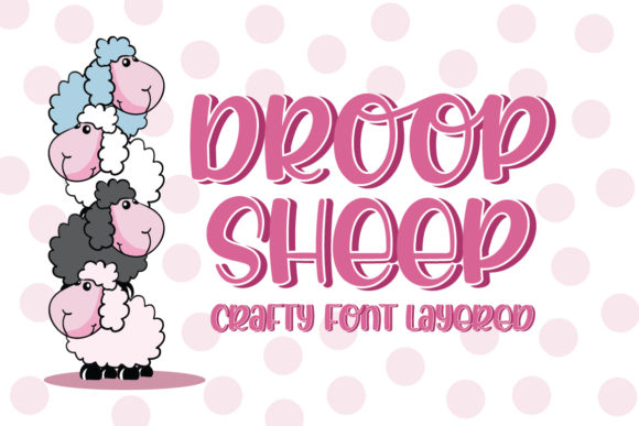 Print on Demand: Droop Sheep Display Font By Almeera Studio