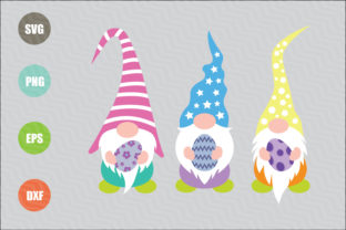 Download Free Easter Gnomes Graphic By Logotrain034 Creative Fabrica for Cricut Explore, Silhouette and other cutting machines.